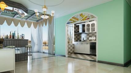 淡雅现代风住宅欣赏厨房灯饰