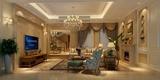 230平欧式奢华别墅欣赏客厅效果