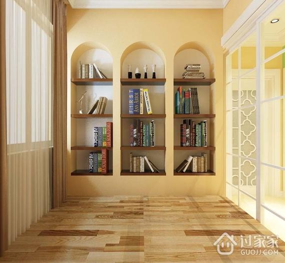 阳台书架装修效果图 简约温馨三口之家