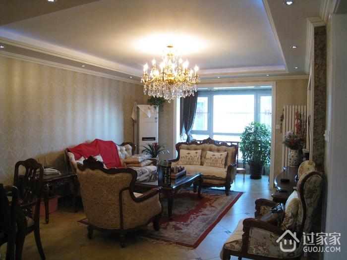 111平美式三居室欣赏
