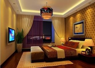 120平中式雅居欣赏卧室灯饰