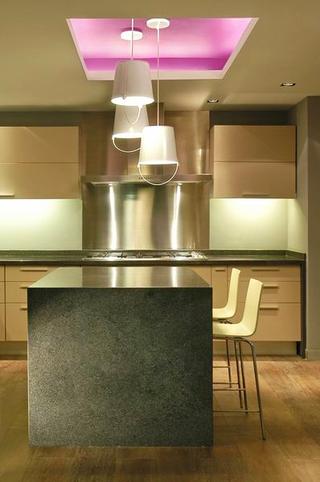 128平现代复式住宅欣赏厨房