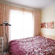 多彩小窝 美式乡村风格卧室窗帘效果图