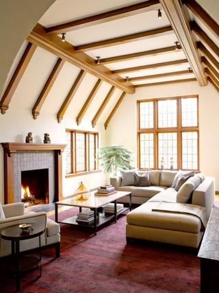 萨克森法式设计风格斜顶客厅