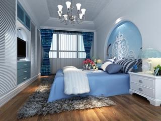 蓝色地中海家居欣赏卧室