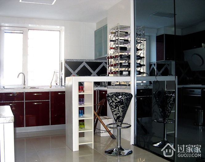 72平现代两居室欣赏厨房吧台