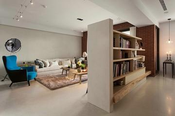 客厅隔断书架设计效果图 极间的美