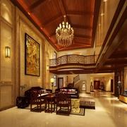 240平中式风格别墅欣赏客厅全景