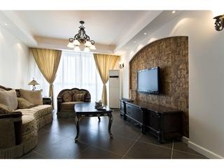 80平白色欧式住宅欣赏客厅局部