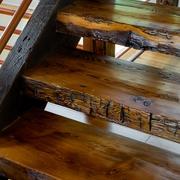 美式乡村木色别墅效果图楼梯设计