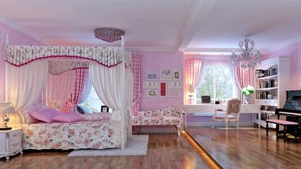 混搭风两居室欣赏儿童房吊顶
