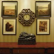豪华美式别墅套图室内有框装饰画