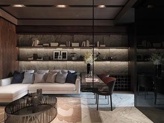76平现代风两居室欣赏客厅照片墙