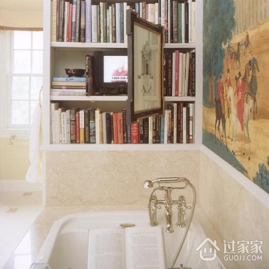 美式别墅装饰套图欣赏卫生间书架