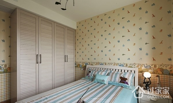 110平现代风案例欣赏卧室衣柜