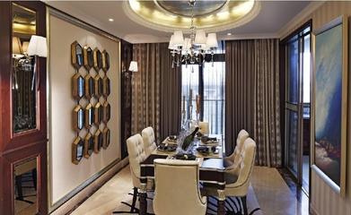 奢华新古典风格欣赏餐厅餐桌