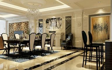 130平奢华欧式风住宅欣赏餐厅餐桌