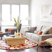 58平多功能现代住宅欣赏客厅效果
