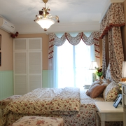欧式田园风卧室窗户