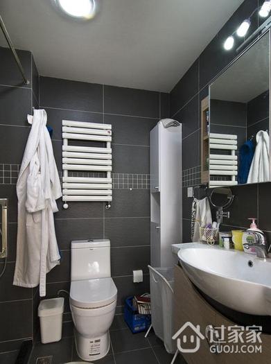 简约三室两厅住宅案例欣赏卫生间吊顶