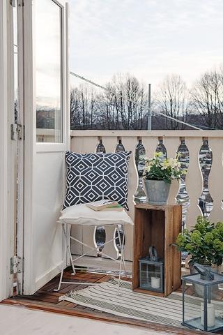 75平优雅北欧住宅欣赏阳台效果