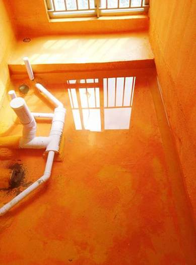 工艺节点17:卫生间、阳台开始做防水