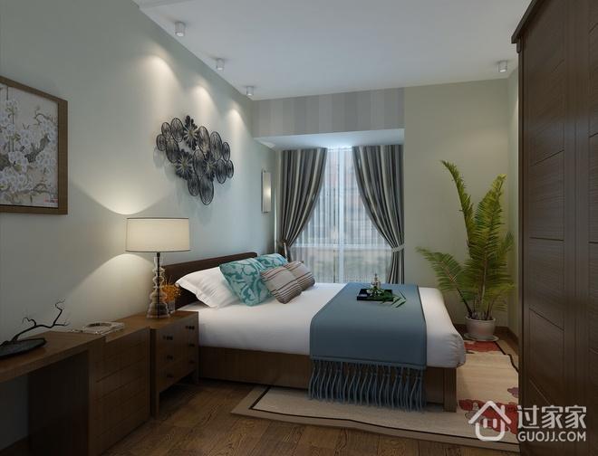 简约三居室案例欣赏卧室窗户