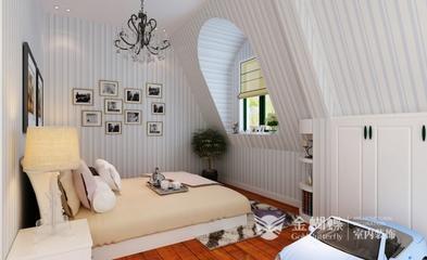混搭风格效果图复式欣赏卧室陈设