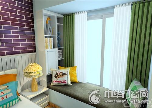 卧室飘窗带书架分享展示