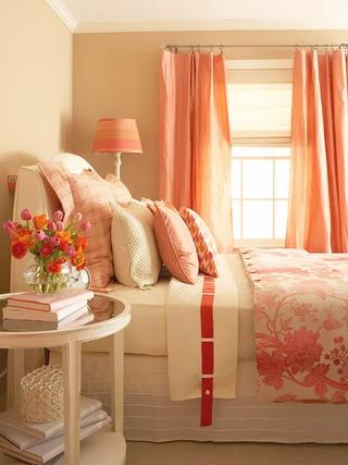橙色浪漫家居欣赏卧室陈设