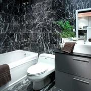 现代风住宅装修图卫浴间