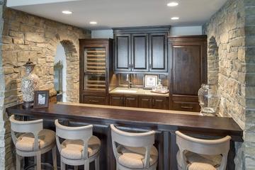 欧式风格别墅装修图厨房吧台
