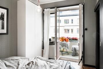 43平现代单身一居室欣赏卧室局部