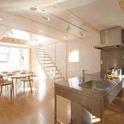 78平清爽日式风欣赏餐厅效果图