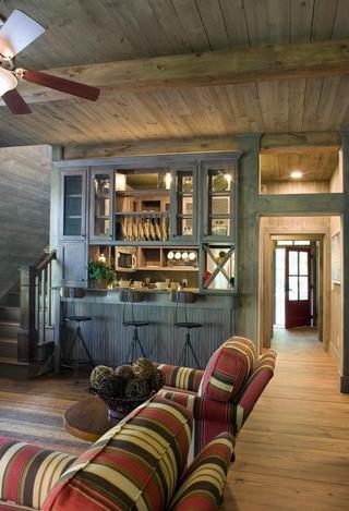 田园风格效果图家庭厅图片