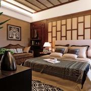 东南亚别墅卧室床品
