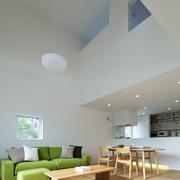 112平日式风格住宅欣赏客厅全景