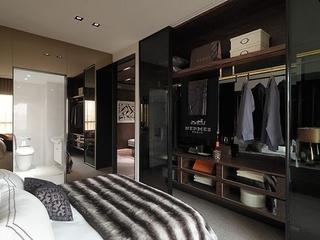 76平现代风两居室欣赏卧室背景墙