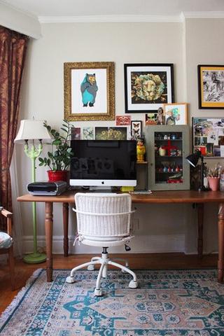 个性家居搭配 混搭书房照片墙效果图