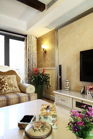 100平米三室两厅欣赏客厅局部