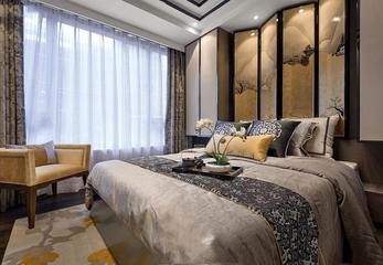 极富创意的中式卧室背景墙
