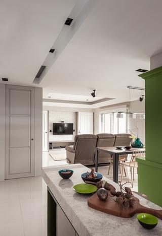 色彩淡雅现代一居室欣赏厨房