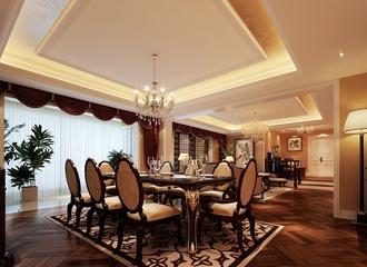 120平法式经典三居欣赏餐厅