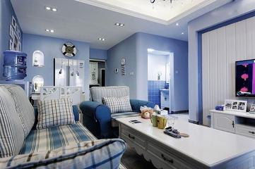 112平蓝色地中海住宅欣赏客厅吊顶