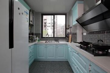 122平混搭时尚住宅欣赏厨房