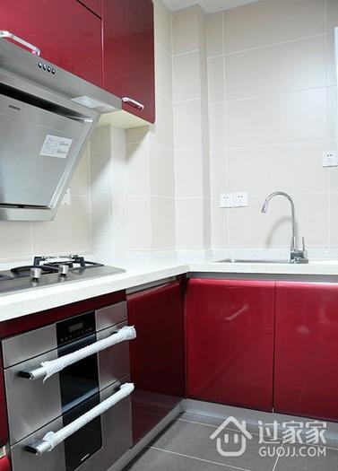 64平清爽两居室欣赏厨房橱柜