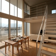 124平日式清爽别墅欣赏餐厅设计