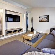 现代黑白灰别墅设计套图家庭厅