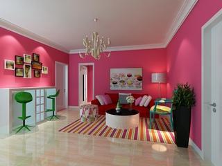 大胆用色简约公寓欣赏