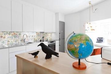 白色北欧小屋欣赏厨房橱柜设计